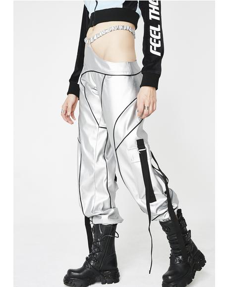 Silver Motocross G-String Pants