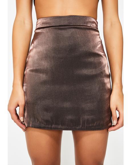 Mocha Viva La Velvet Mini Skirt