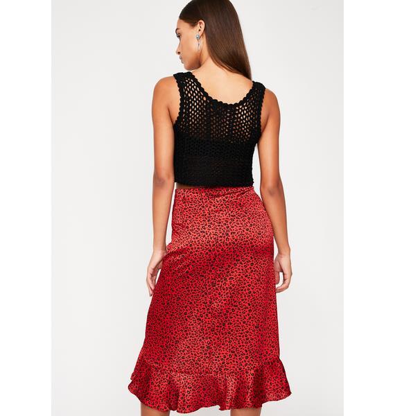 Run The Sirenz Leopard Skirt