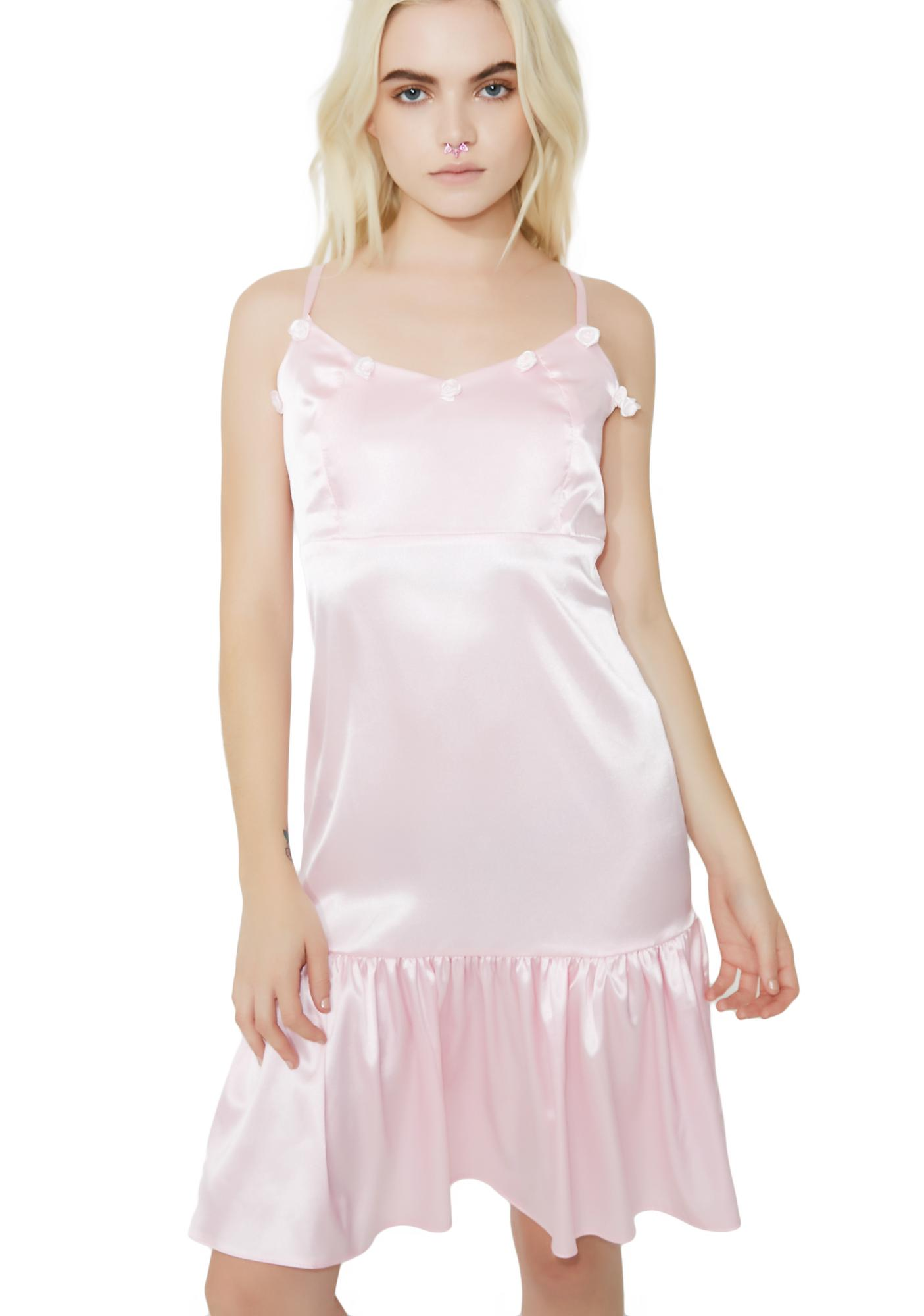 Sugarpills Roses Satin Dress