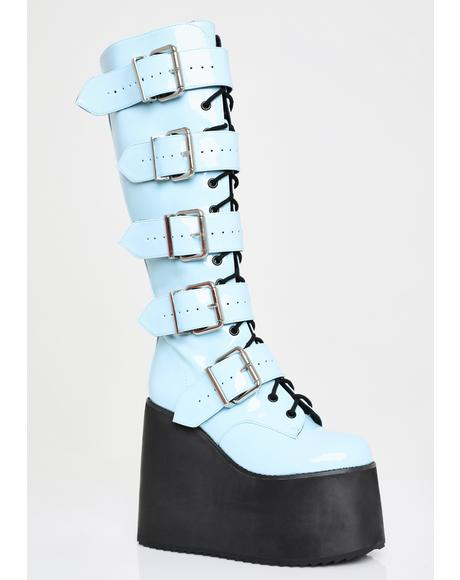 Bubble Bliss Buckle Boots