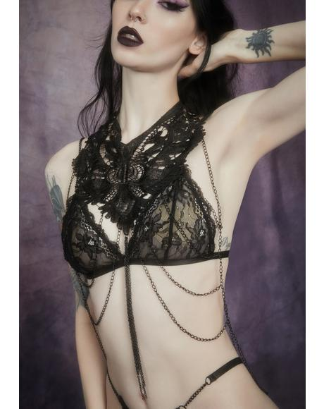 Dripping In Darkness Lace Collar
