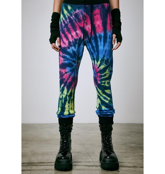 Current Mood Warped Reality Tie Dye Leggings