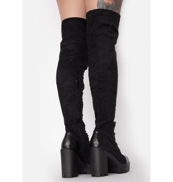 Suede Fashion Blogger Knee High Boots