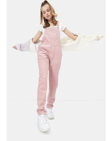 Flirty Cutest Covergirl Straight Leg Overalls