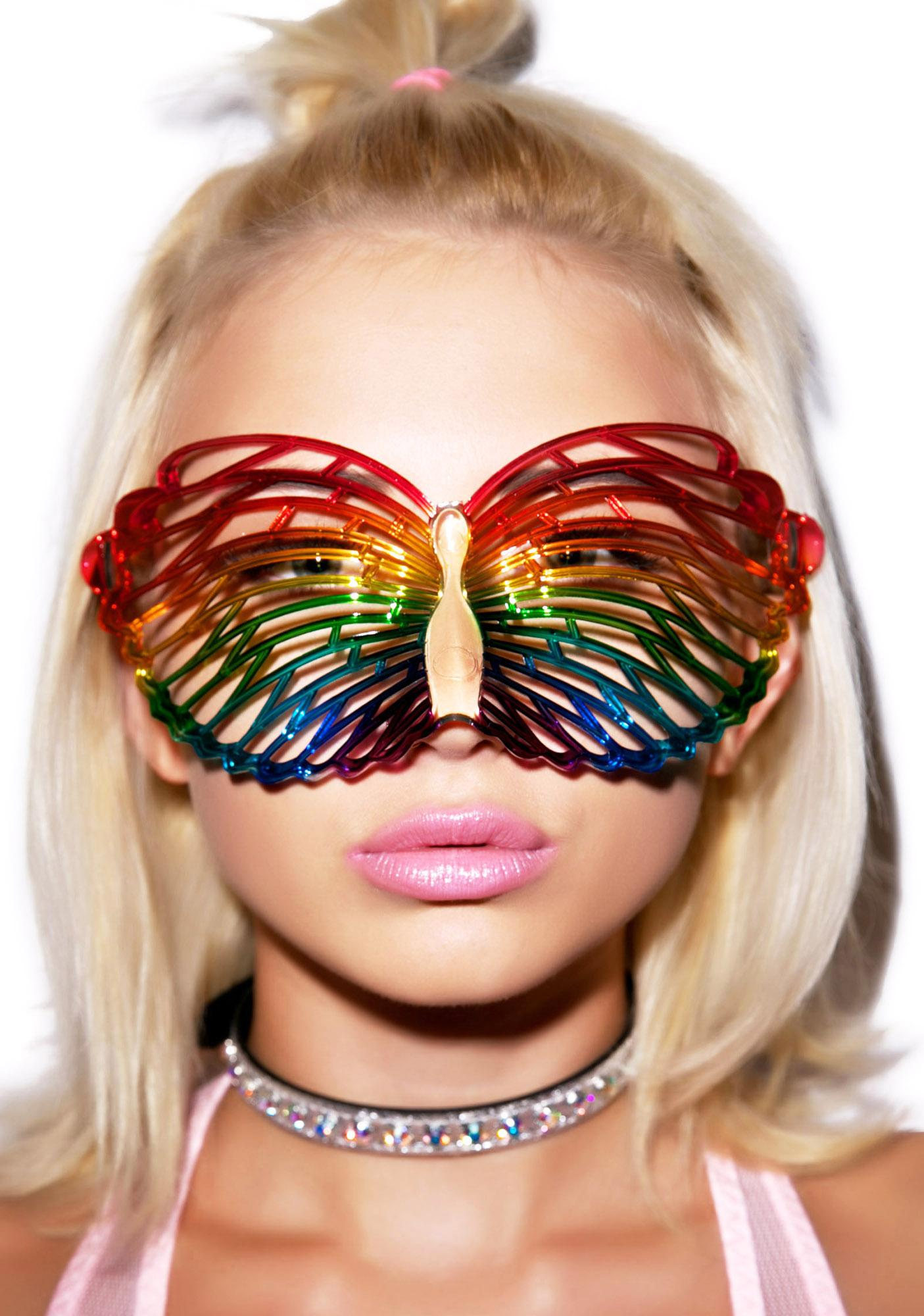 Butterfly Louvre Rainbow Glasses