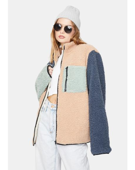 Sherpa Color Block Jacket