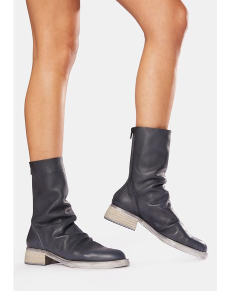Sutton Tight Slouch Leather Boots