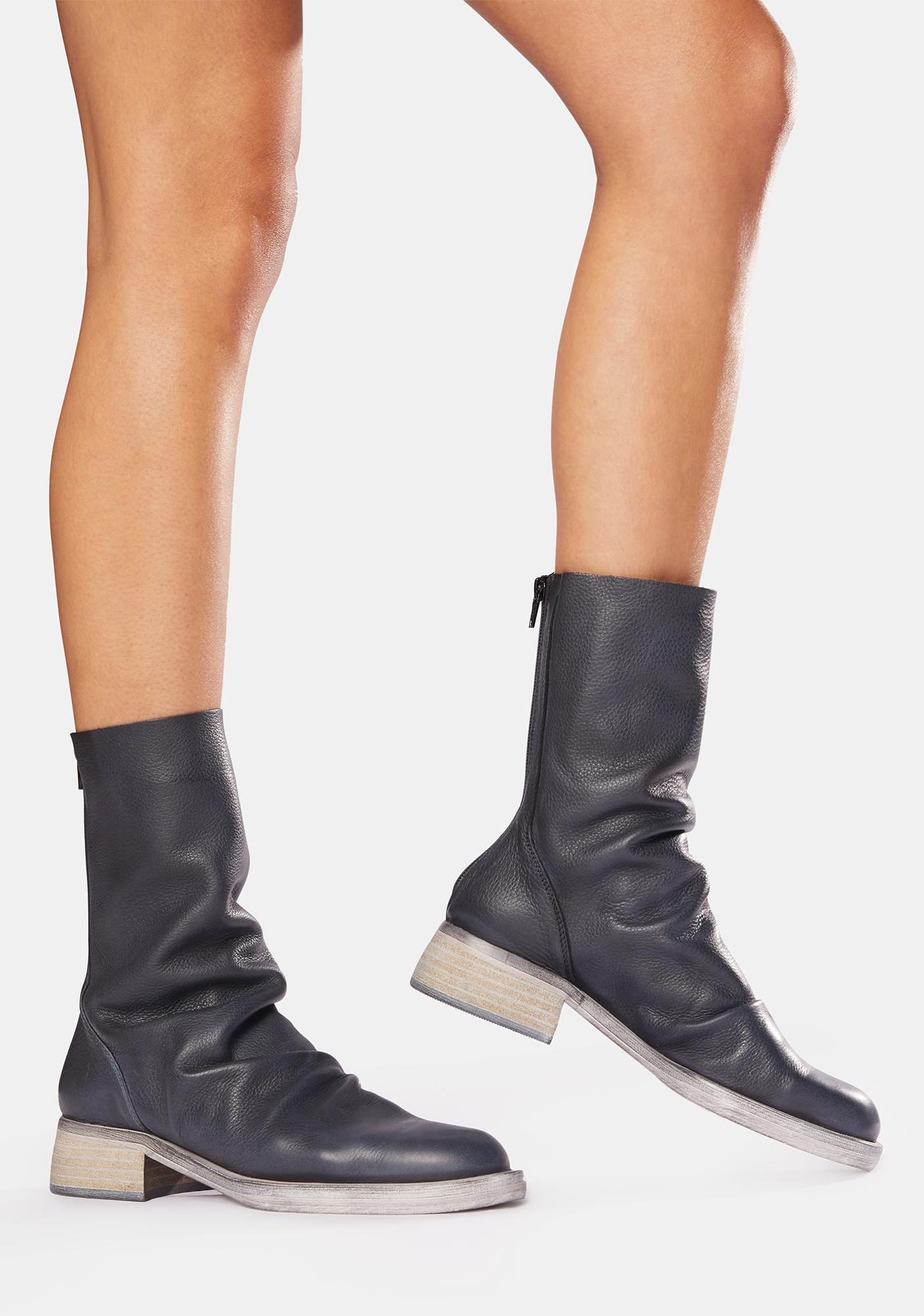 Free People Sutton Tight Slouch Leather Boots