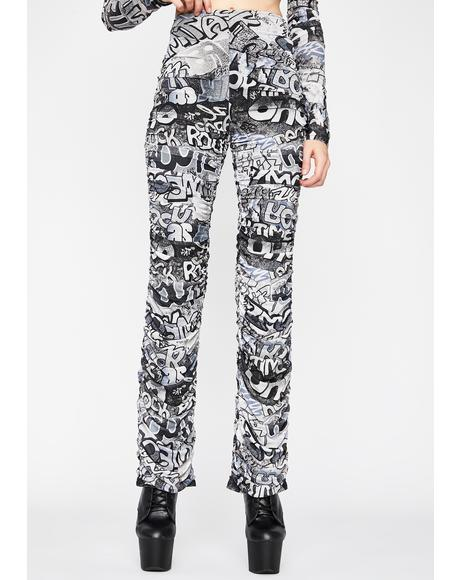 Grunge Urban Melody Ruched Pants