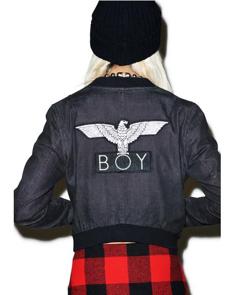 Boy 153 Cropped Denim Jacket