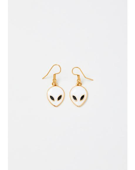 Pure Stardust Alien Earrings
