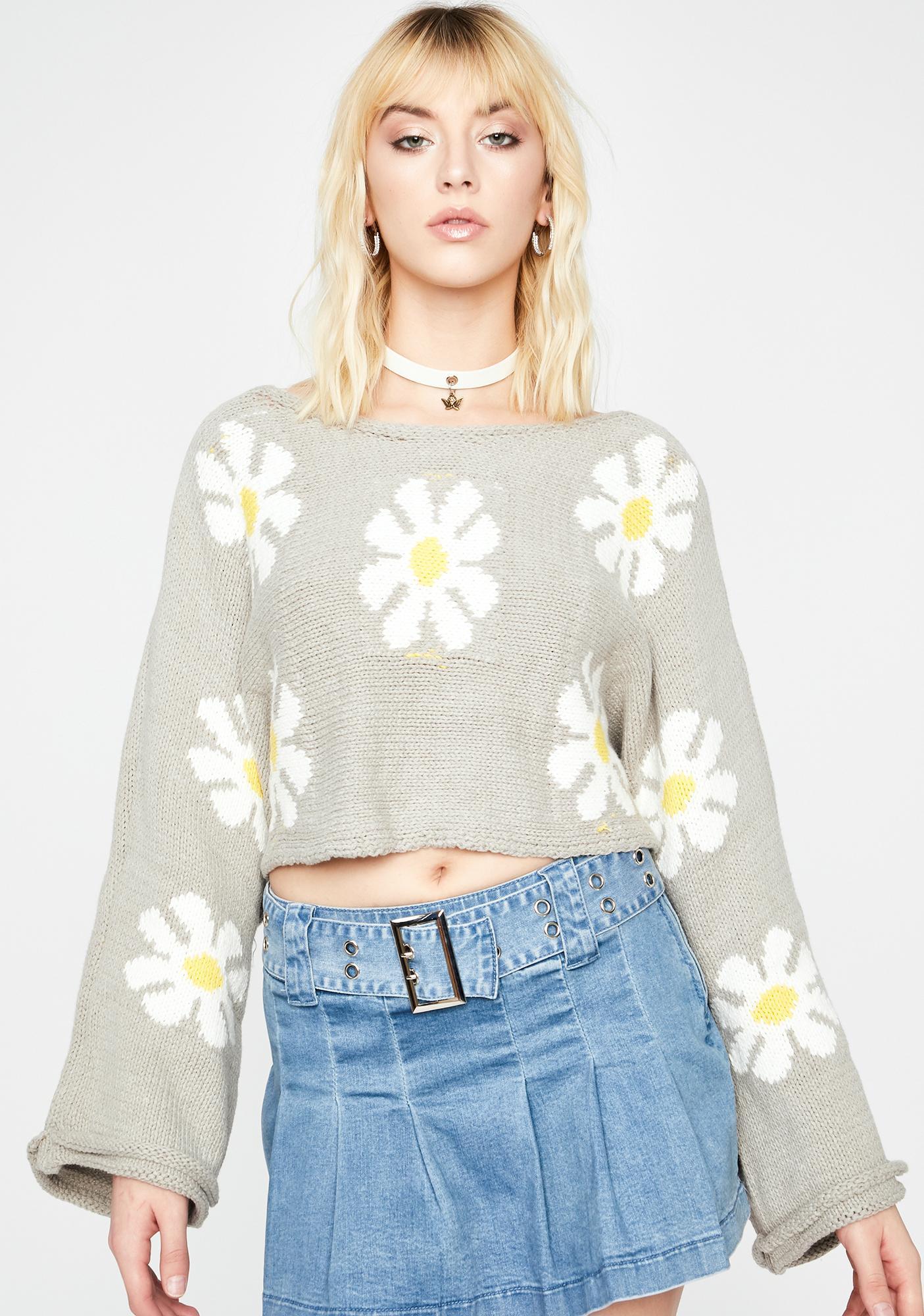Daisy Daydream Knit Sweater