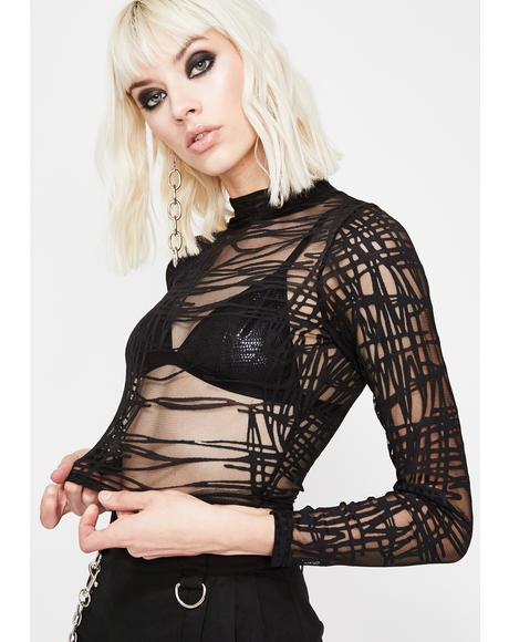 Punk Vixen Mesh Crop Top