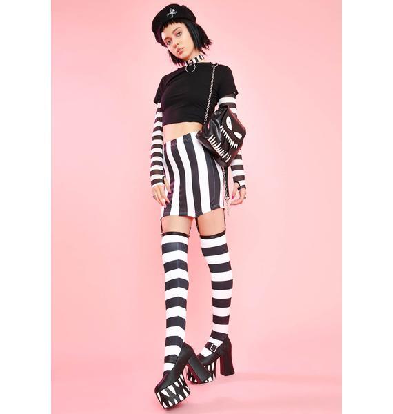 Sugar Thrillz Will U Be Mime Skirt Set