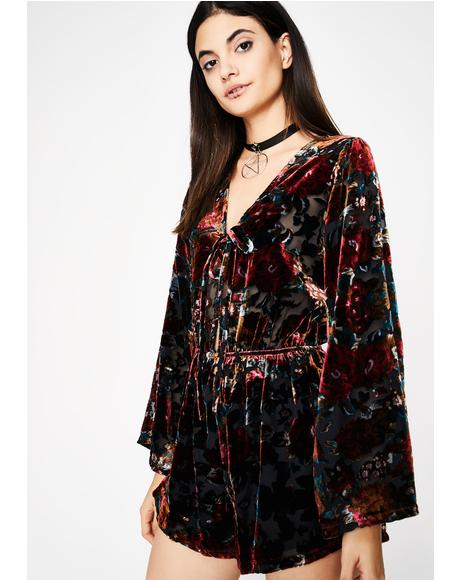 Next Hit Velvet Romper