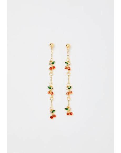 Mon Cherry Chain Earrings