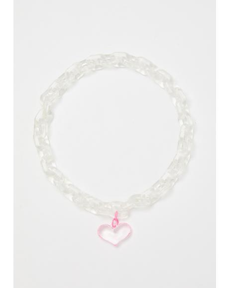 Rumor Of Love Heart Choker