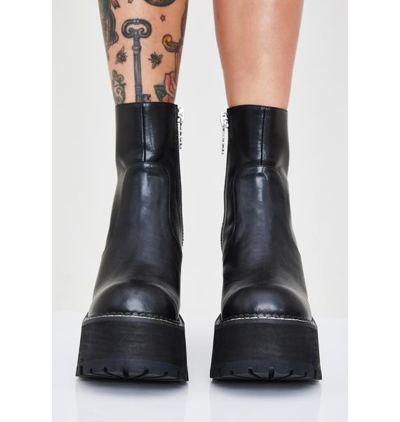dELiA*s by Dolls Kill Typical Behavior Platform Boots