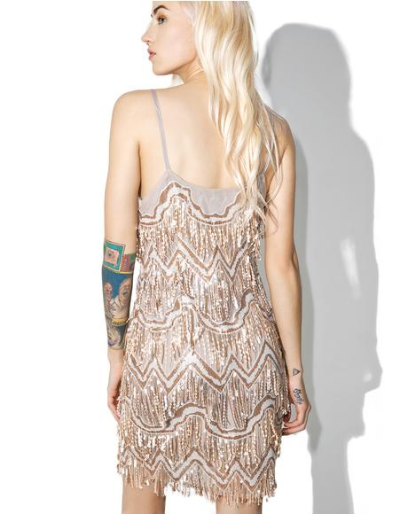 Zelda Fringe Mini Dress