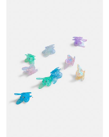 Pastel Butterfly Hairclips