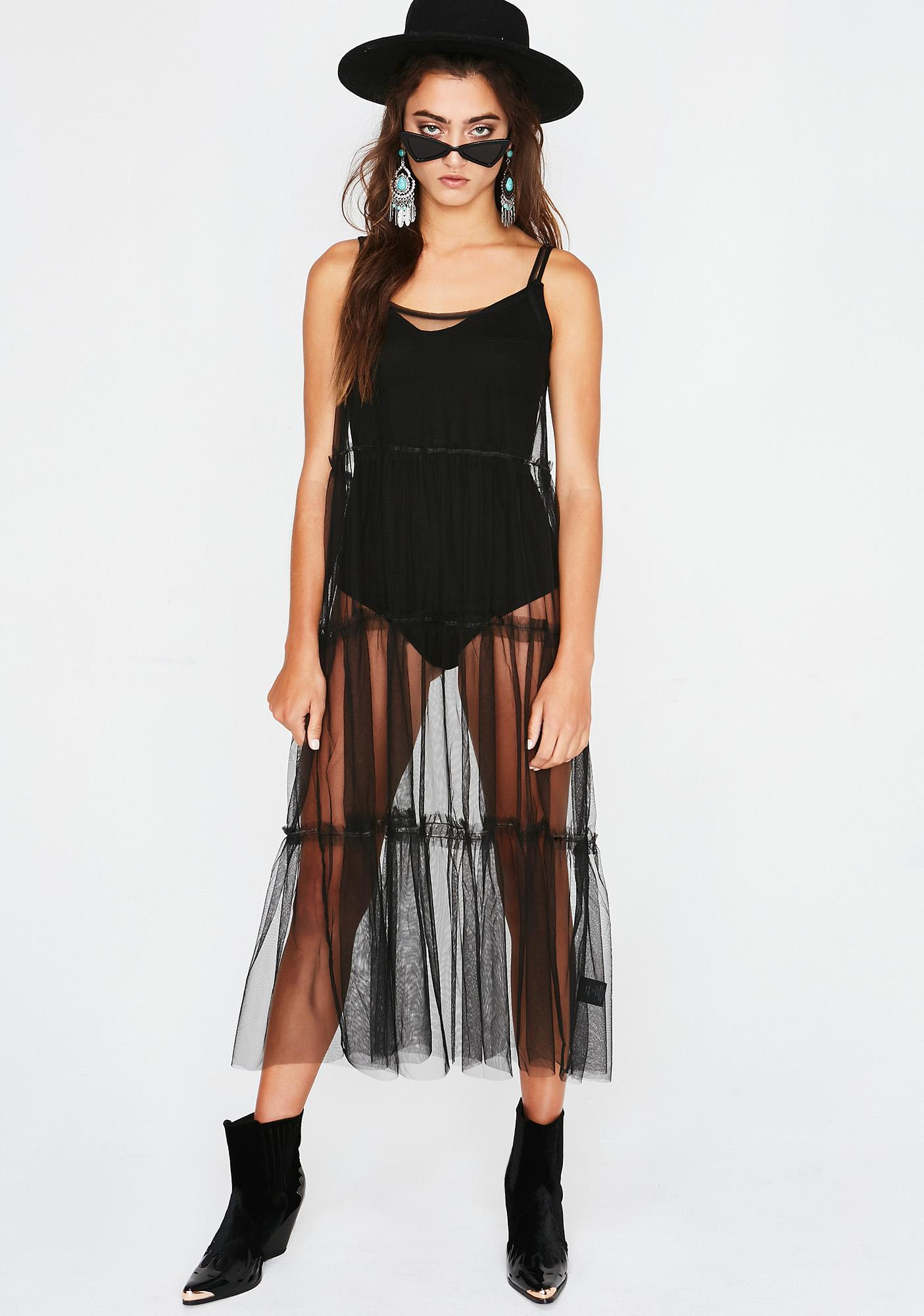 Midnight Ballerina Baddie Sheer Dress