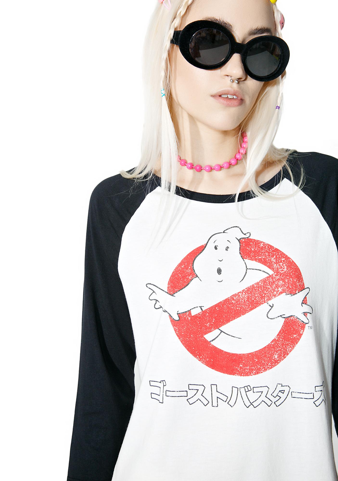 Ghostbusters Kanji Raglan Tee