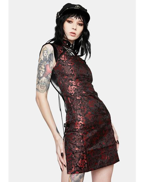 Red Punk Gothic Cyber Dress
