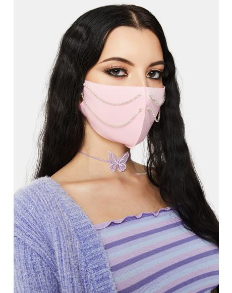 Blush Bling-cognito Chain Face Mask