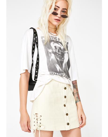 Classy Sass Lace-Up Mini Skirt