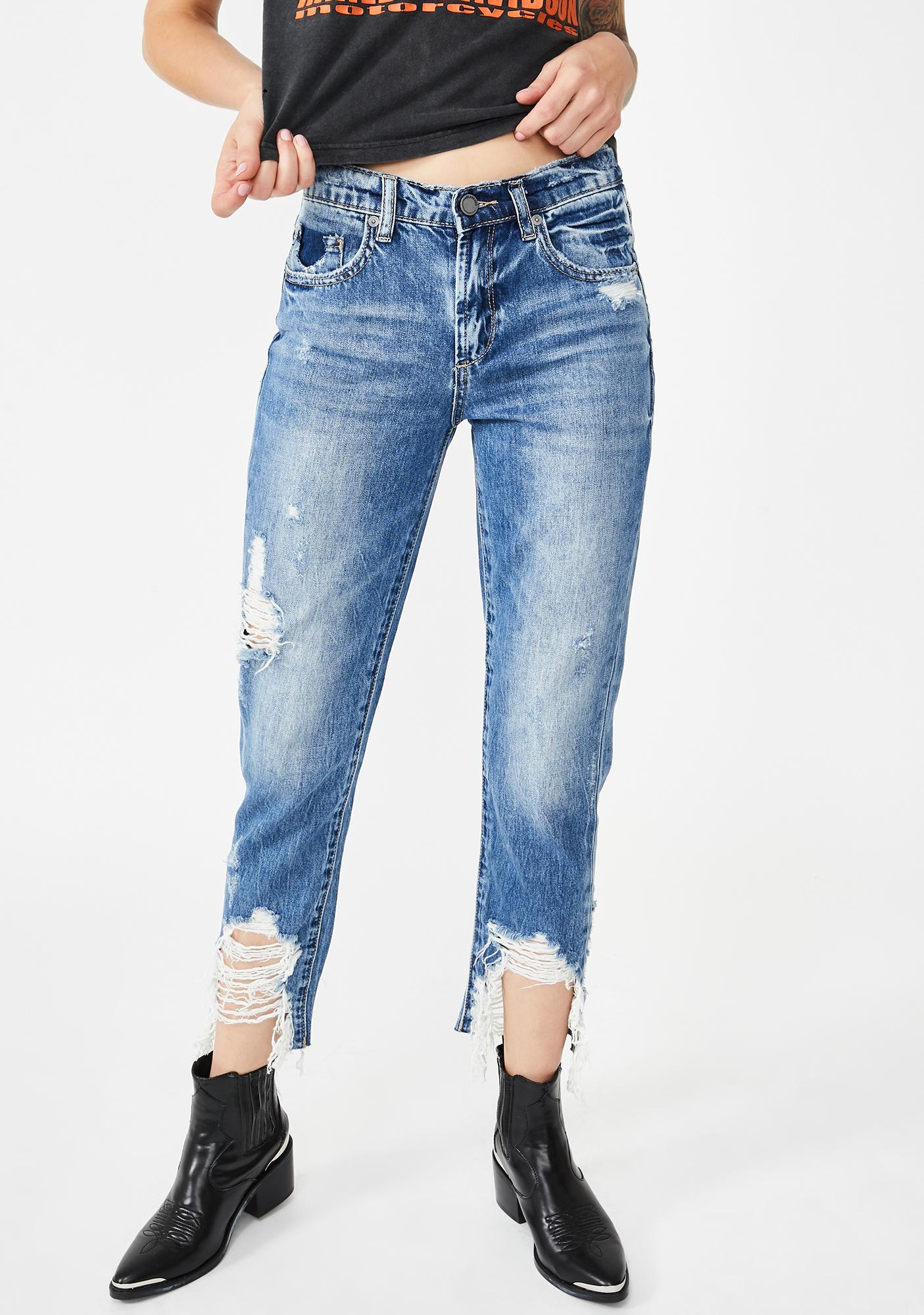 Blank NYC Happy Hour Distressed Denim Jeans
