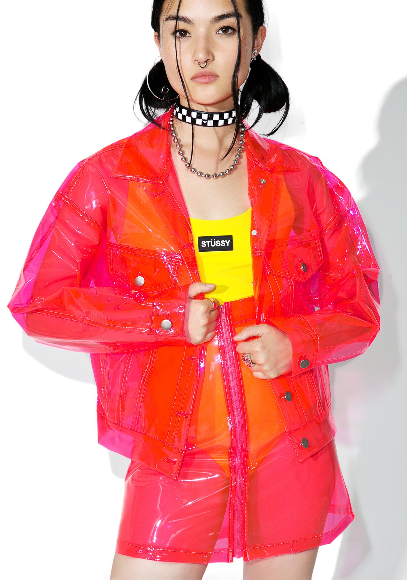 Brashy Crystalline Pink Transparent Jacket