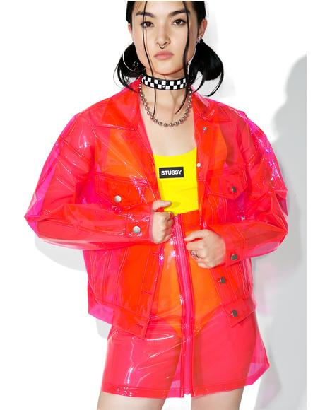Crystalline Pink Transparent Jacket