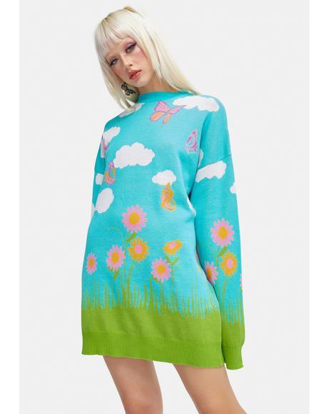 Greener Pastures Intarsia Sweater