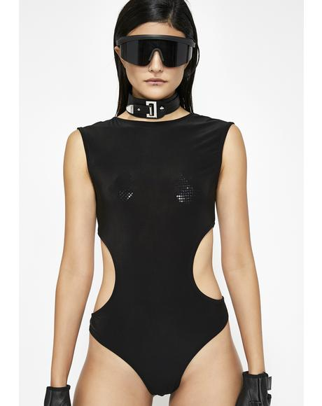 Feel The Music Cutout Bodysuit