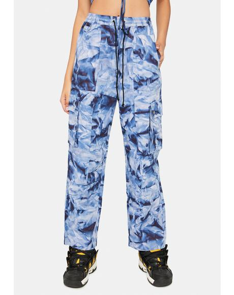Navy Get It Poppin Cargo Pants