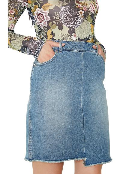 Almost Denim Skirt