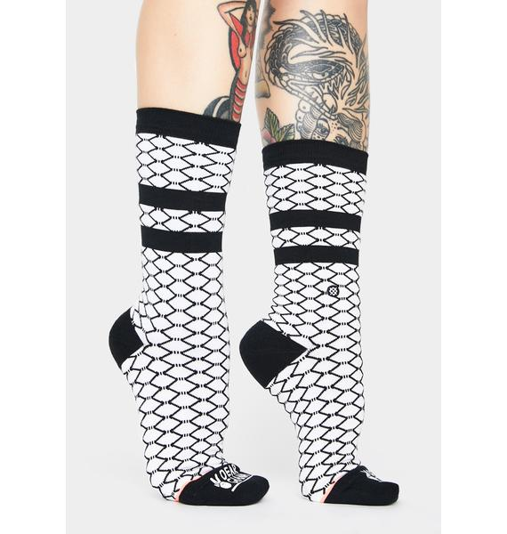 Stance Dear Giana Fishnet Print Crew Socks