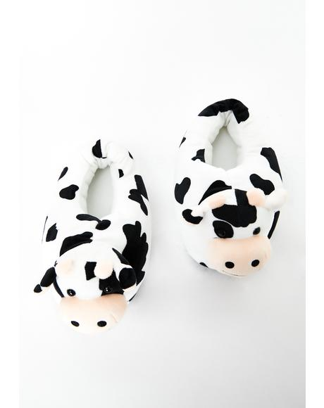 Issa Moo'd Cow Slippers