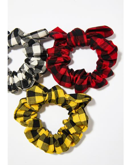 Plaid Intentions Scrunchie Set