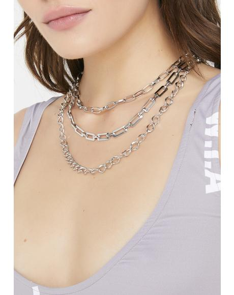 Grunge Glam Chain Necklace