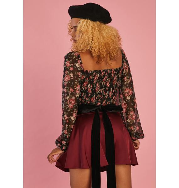 Sugar Thrillz Art Of Elegance Satin Skirt