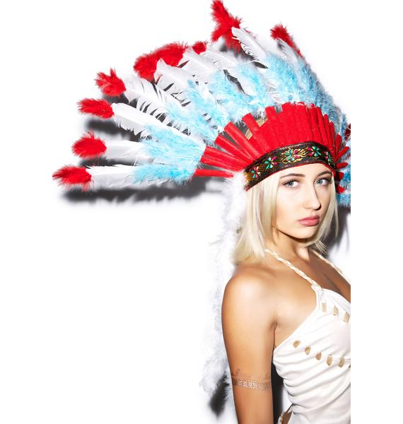 Fringed Feather Headpiece