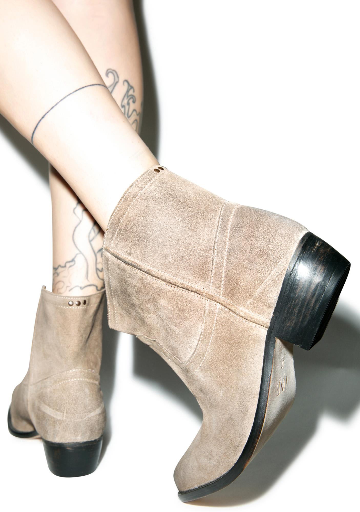 One Teaspoon Camel Le Rebel Suede Bootie