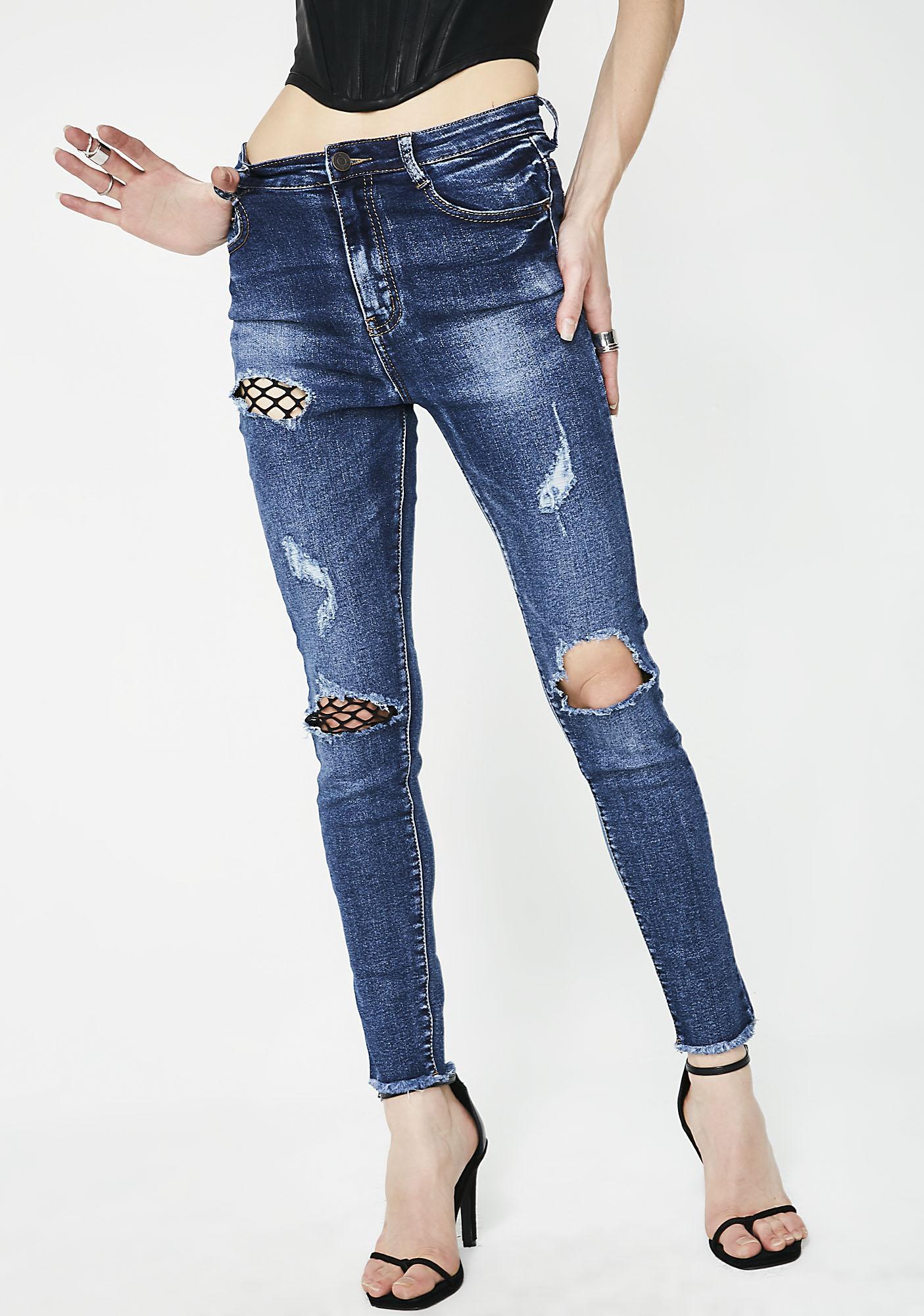 Momokrom Fishnet Jeans