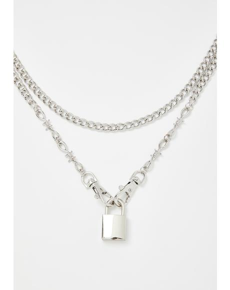 Harsh Judgement Lock Necklace