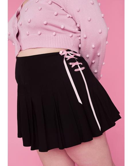 Plz Watch Me Pirouette Lace-Up Skirt