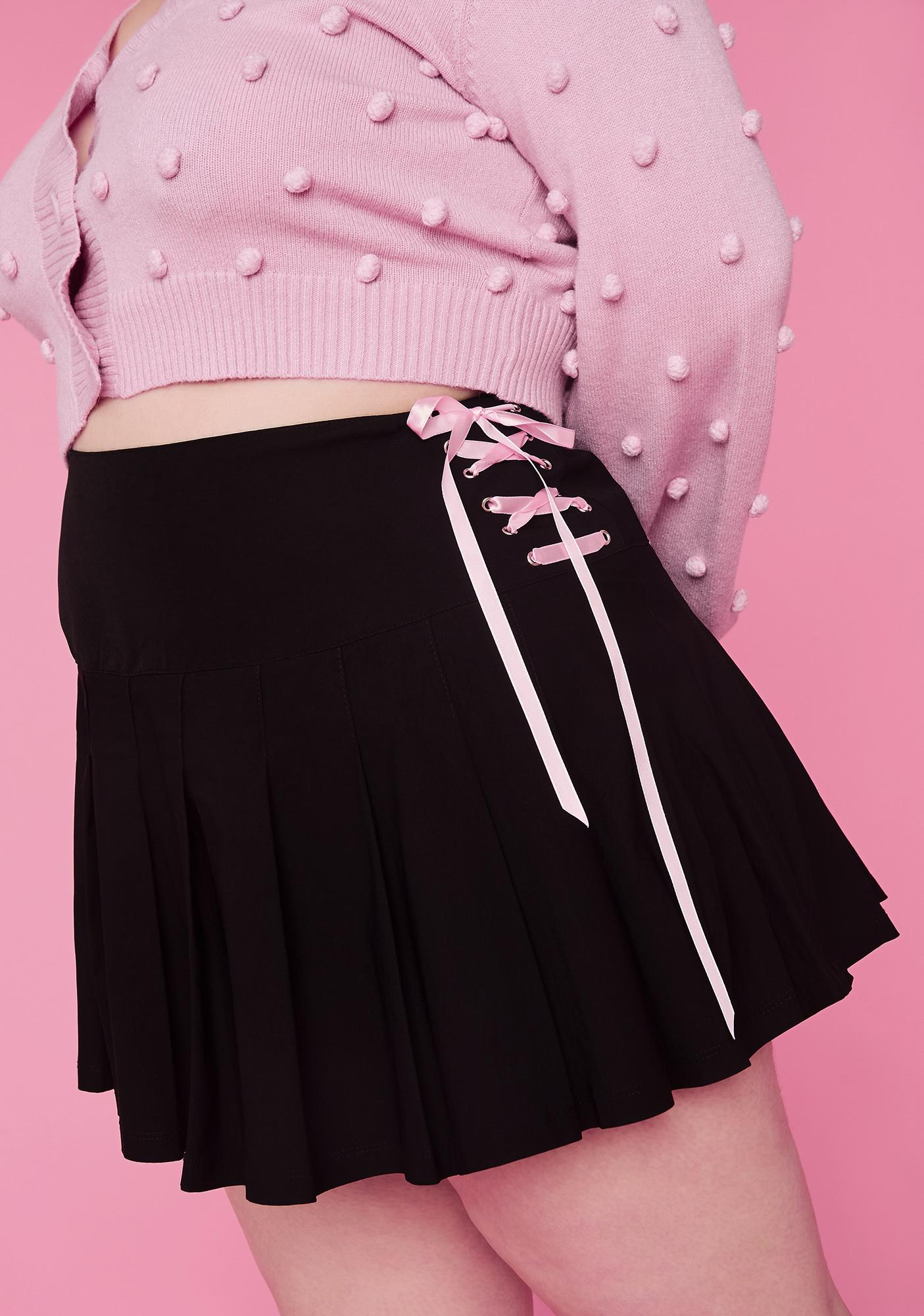 Sugar Thrillz Plz Watch Me Pirouette Lace-Up Skirt