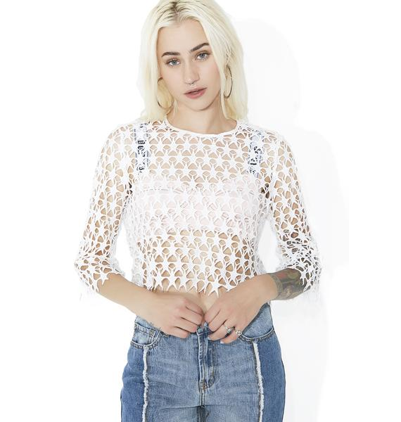 Stars In Her Eyes Crochet Top