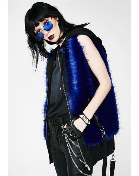 Cobalt Bondage Fur Vest